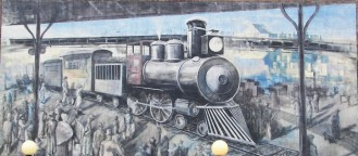 Knoxville Historic Train Mural by Walt Fieldsa
