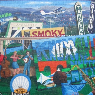 Visit Knoxville Mural by Bobbie Crews